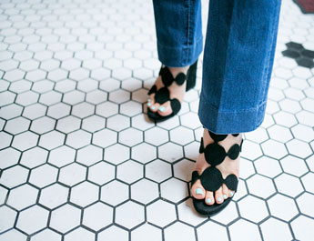 Dot strapped sandal